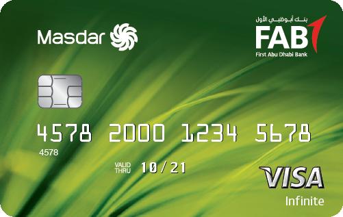 FAB - Masdar Infinite and platinum Credit Cards