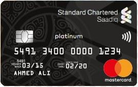 Standard Chartered Bank - Saadiq Platinum Credit Card